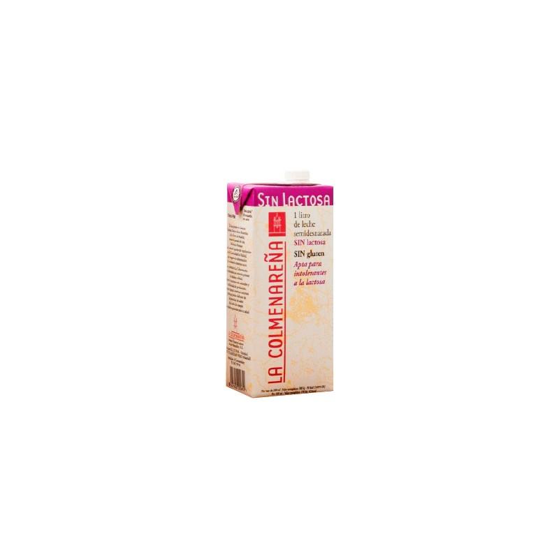 Leche semidesnatada sin lactosa UHT La Colmenareña